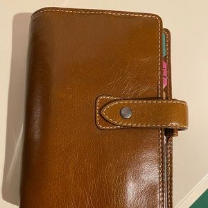 Filofax Leather Planner Personal Size Ring Binder